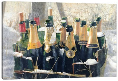 Boxing Day Empties Canvas Art Print