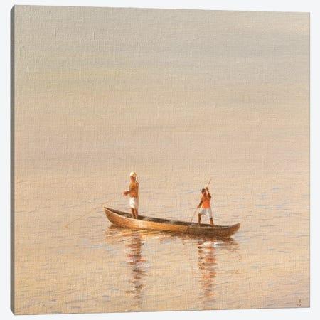 Kerala Fishermen Canvas Print #LIS61} by Lincoln Seligman Canvas Print