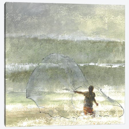 Lone Fisherman IV, 2015 Canvas Print #LIS64} by Lincoln Seligman Canvas Wall Art