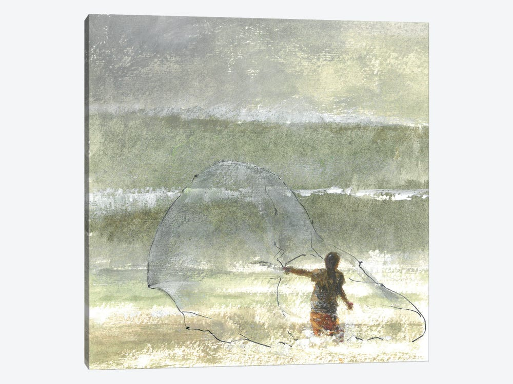 Lone Fisherman IV, 2015 by Lincoln Seligman 1-piece Canvas Art