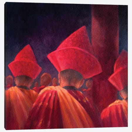 Buddhist Monks Canvas Print #LIS6} by Lincoln Seligman Canvas Art Print