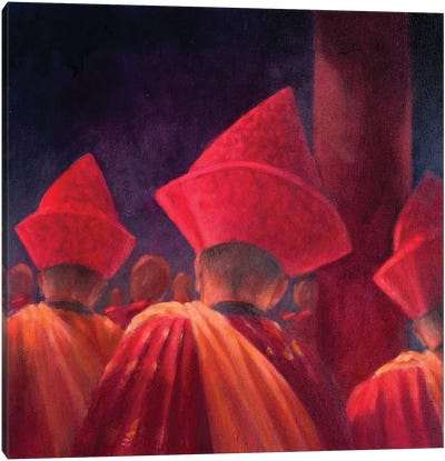 Buddhist Monks Canvas Art Print