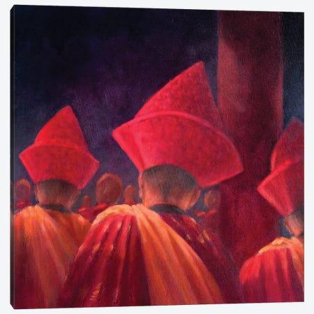 Buddhist Monks Canvas Print #LIS6} by Lincoln Seligman Canvas Art Print