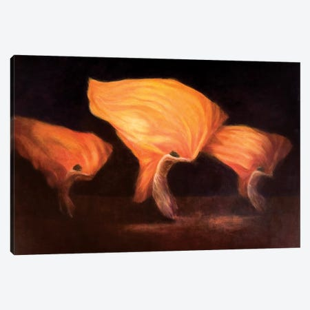 Chinese Dancers Canvas Print #LIS8} by Lincoln Seligman Canvas Art