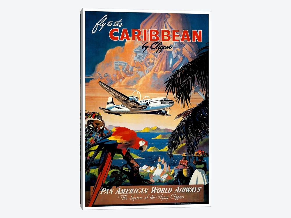 Fly To The Caribbean by Unknown Artist 1-piece Canvas Print