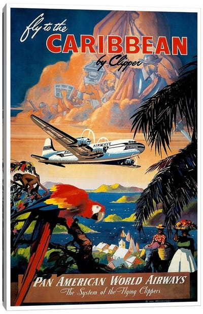 Fly To The Caribbean Canvas Art Print