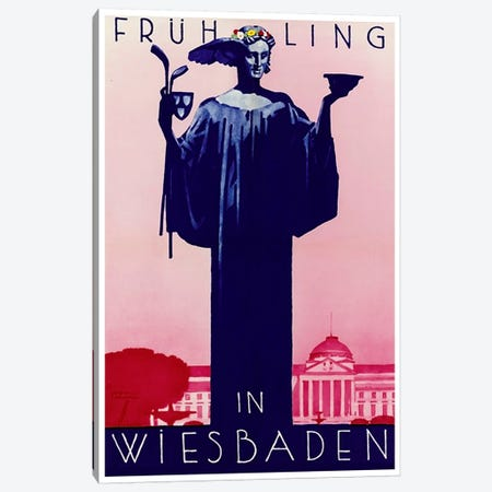 Fruhling In Wiesbaden, Germany Canvas Print #LIV107} by Unknown Artist Canvas Art