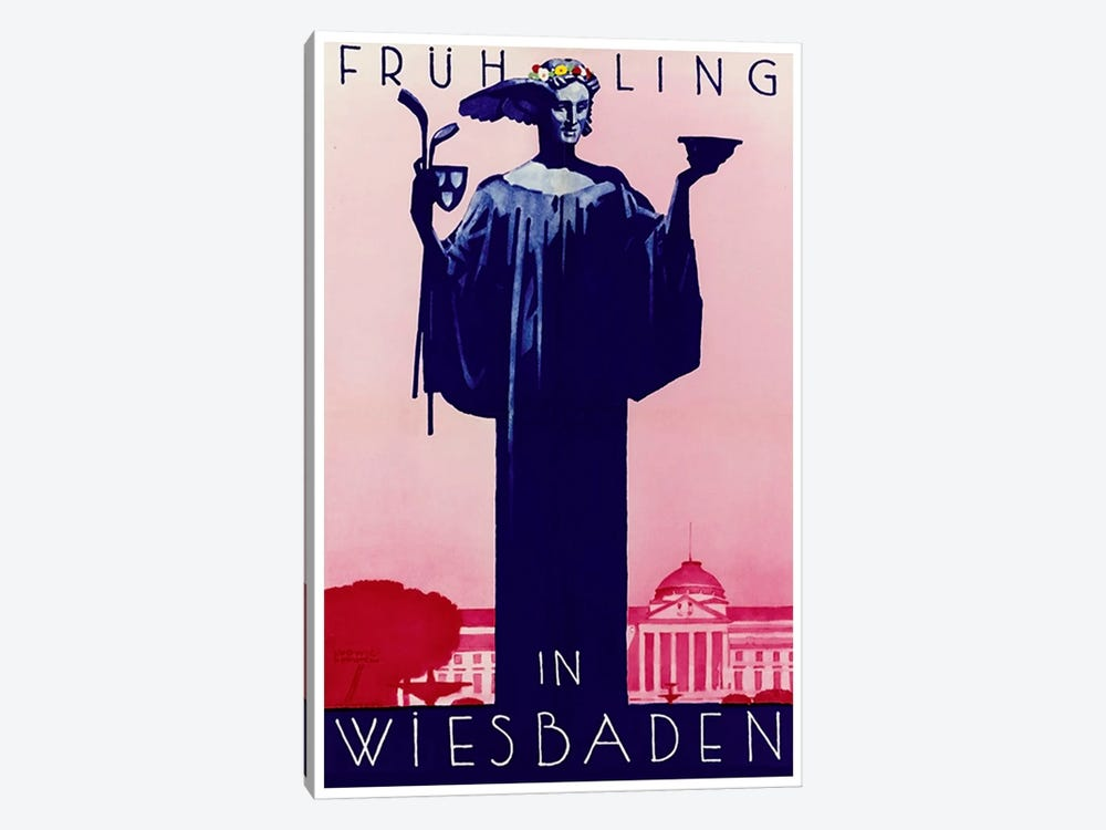 Fruhling In Wiesbaden, Germany by Unknown Artist 1-piece Canvas Print