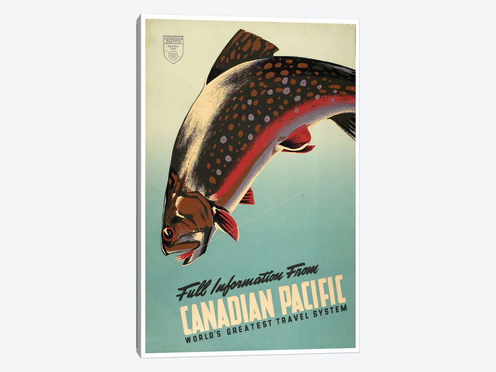 Full Information From Canadian Pacific: World's Greatest Travel System 1-piece Canvas Wall Art