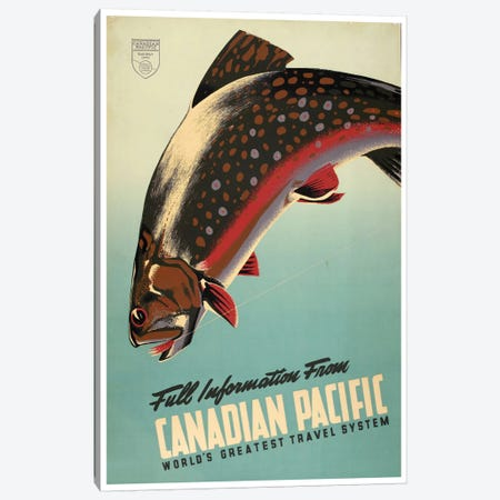 Full Information From Canadian Pacific: World's Greatest Travel System 3-Piece Canvas #LIV108} by Unknown Artist Canvas Print