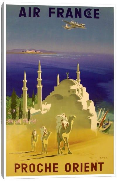 Air France - Proche Orient (Near East) II Canvas Print #LIV10