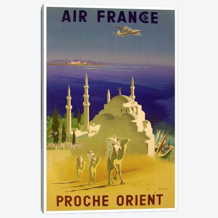 Air France - Proche Orient (Near East) II Canvas Print #LIV10} by Unknown Artist Canvas Art Print