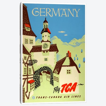 Germany - Fly TCA, Trans-Canada Air Lines Canvas Print #LIV110} by Unknown Artist Canvas Art