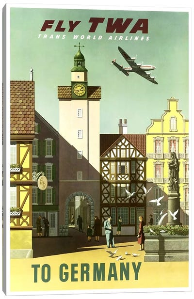 Germany - Fly TWA Canvas Art Print