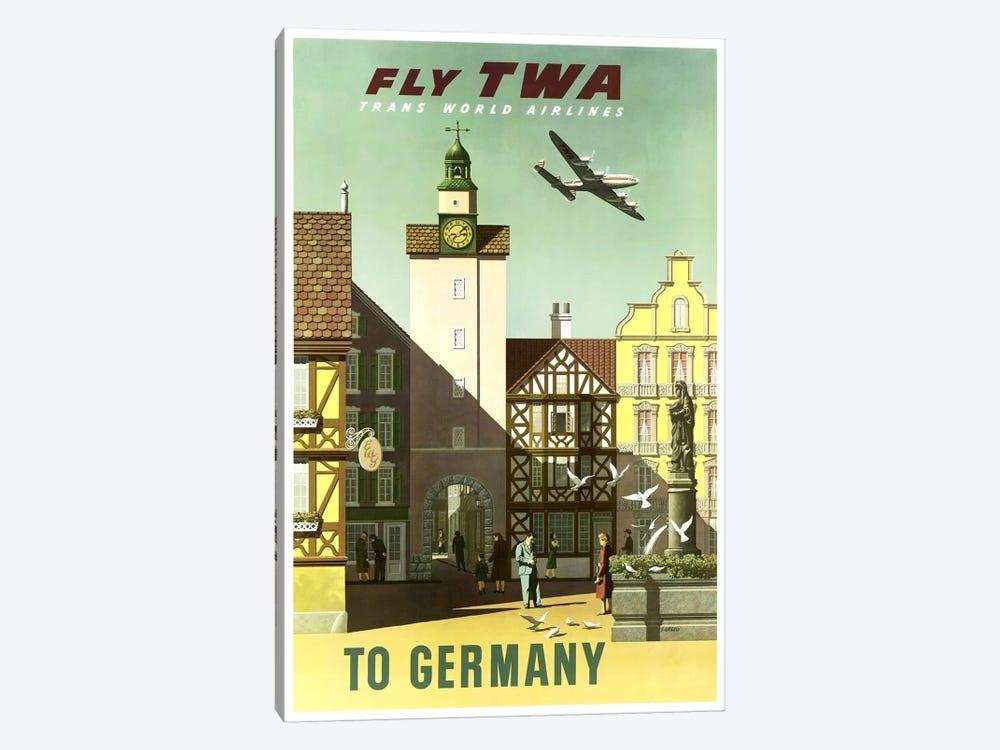 Germany - Fly TWA by Unknown Artist 1-piece Canvas Art