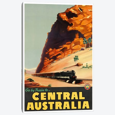 Go By Train To Central Australia Canvas Print #LIV112} by Unknown Artist Canvas Art