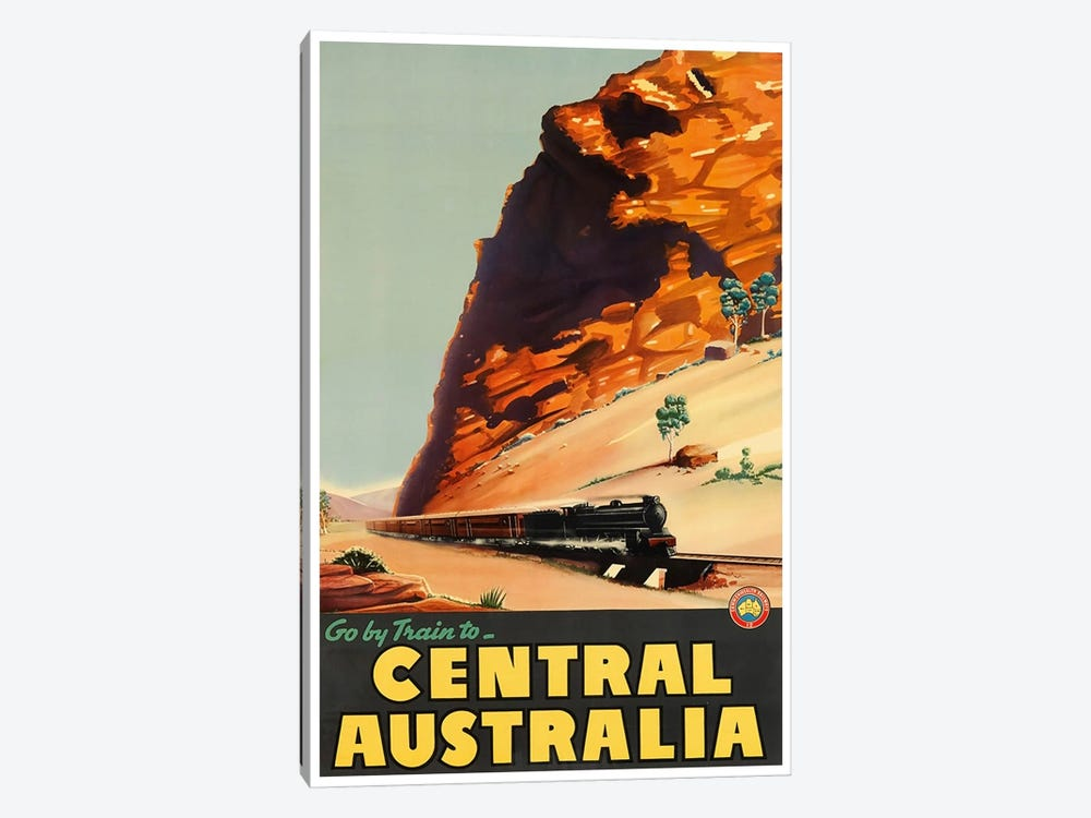 Go By Train To Central Australia by Unknown Artist 1-piece Canvas Print