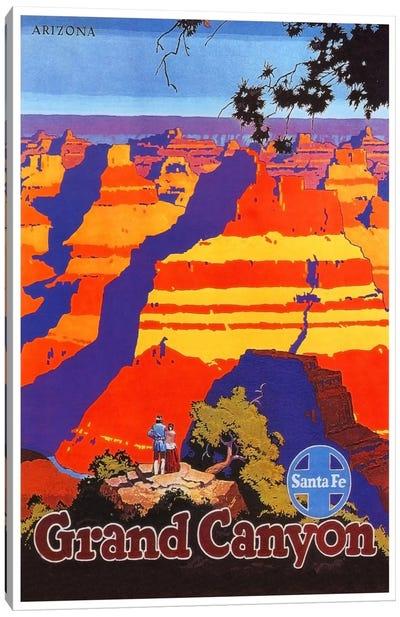 Grand Canyon, Arizona - Santa Fe Railway Canvas Print #LIV113