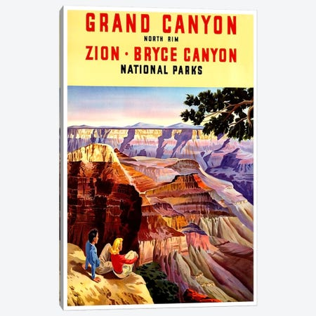 Grand Canyon, Zion, And Bryce Canyon National Parks Canvas Print #LIV114} by Unknown Artist Canvas Print