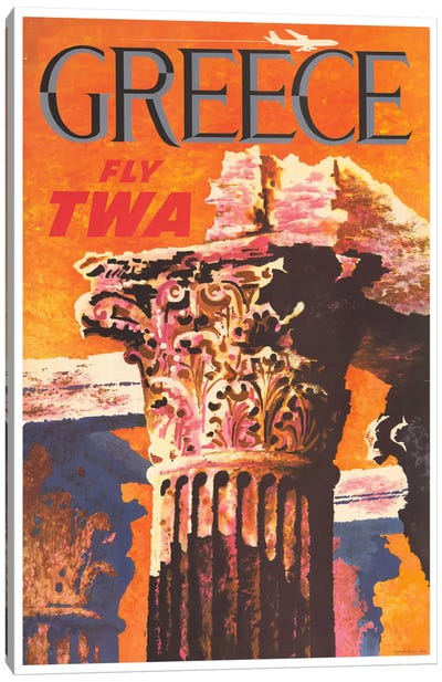 Greece canvas wall art icanvas for Lighthouse motors morton il