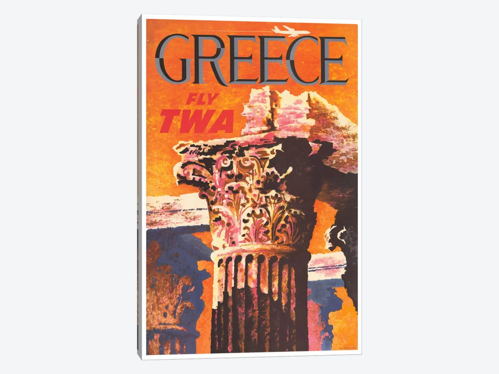 Greece - Fly TWA I by Unknown Artist 1-piece Canvas Artwork