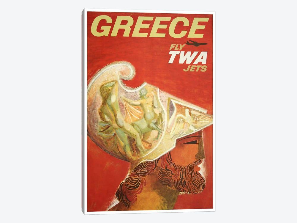 Greece - Fly TWA II by Unknown Artist 1-piece Canvas Print