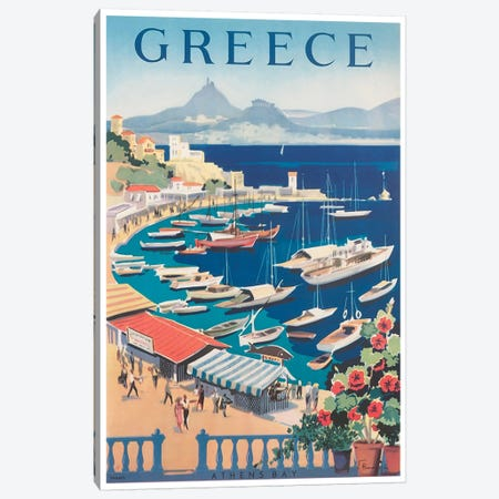 Greece: Athens Bay Canvas Print #LIV117} by Unknown Artist Canvas Print