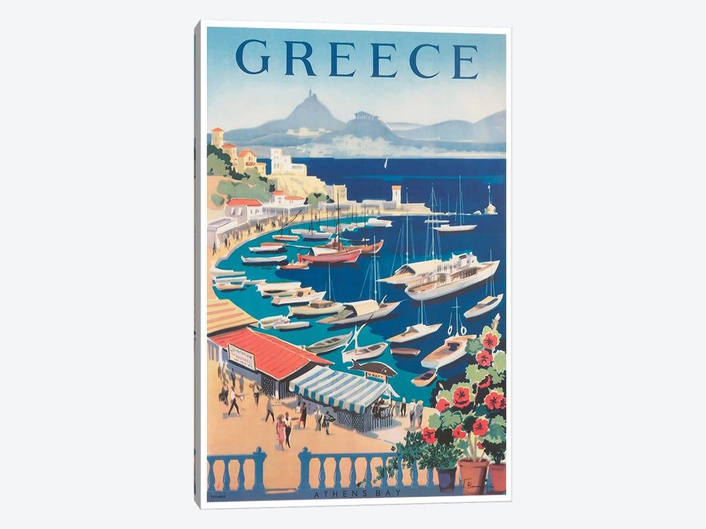 Greece: Athens Bay by Unknown Artist 1-piece Canvas Artwork