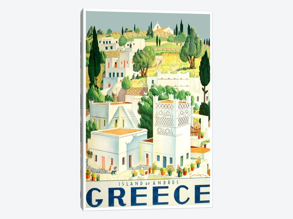 Greece: Island Of Andros 1-piece Canvas Art Print