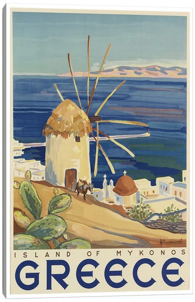 Greece: Island Of Mykonos Canvas Art Print