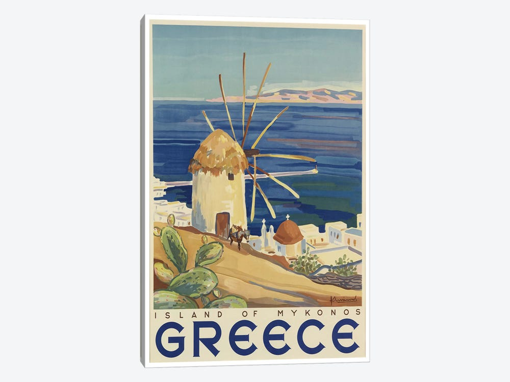 Greece: Island Of Mykonos 1-piece Canvas Wall Art