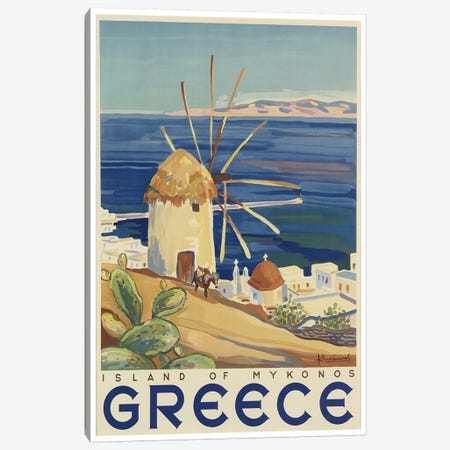 Greece: Island Of Mykonos Canvas Print #LIV119} by Unknown Artist Canvas Artwork