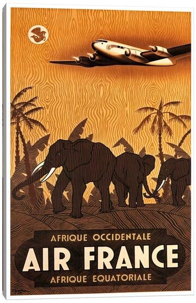Air France Afrique Occidentale Canvas Print #LIV11