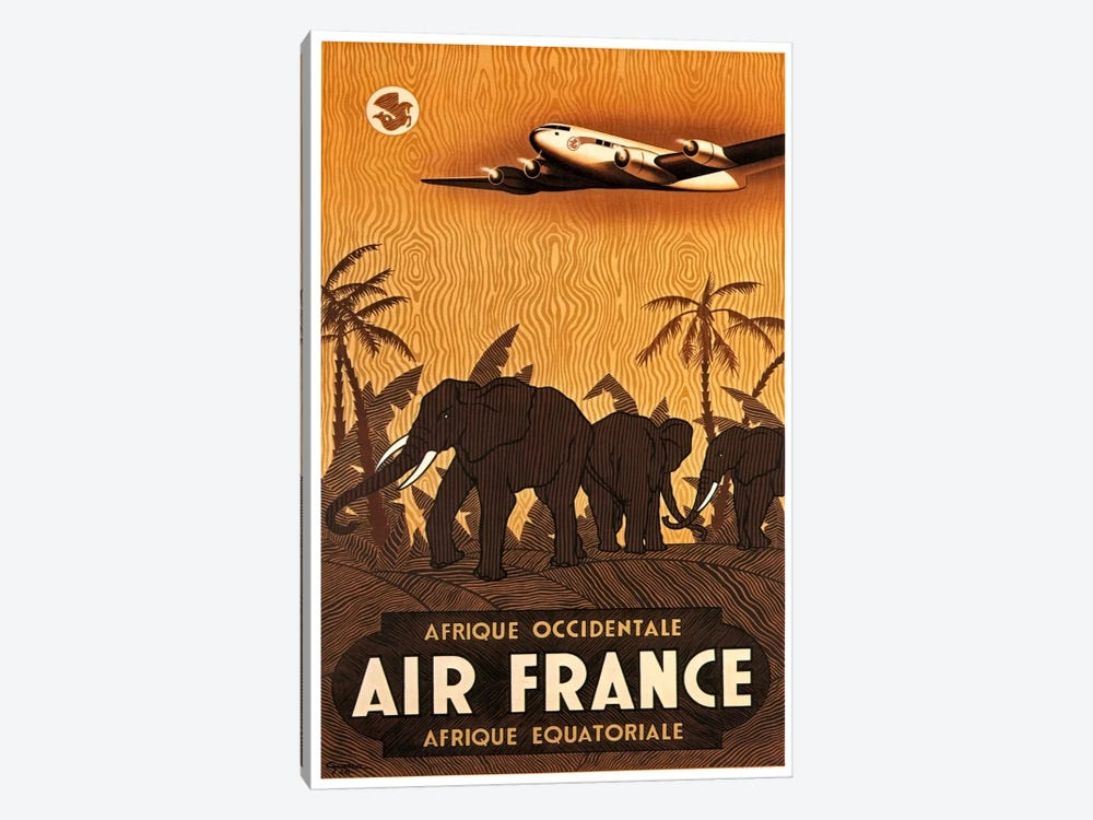 Air France Afrique Occidentale by Unknown Artist 1-piece Canvas Art