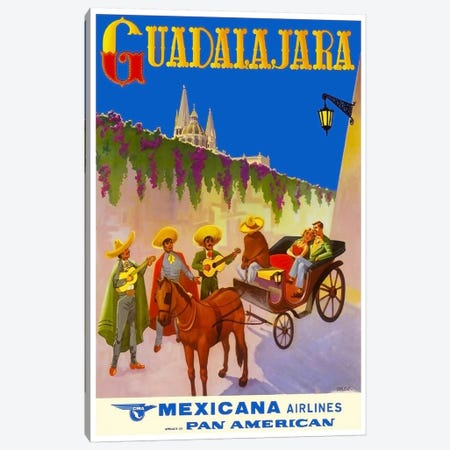 Guadalajara - Mexicana Airlines Canvas Print #LIV120} by Unknown Artist Canvas Print