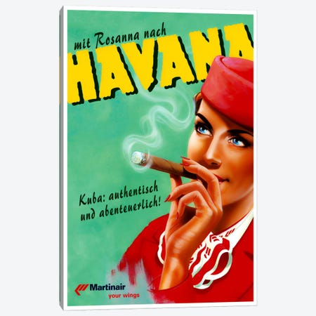 Havana - Martinair Canvas Print #LIV121} by Unknown Artist Canvas Art Print