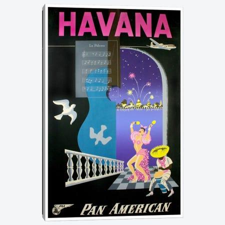 Havana - Pan American Canvas Print #LIV122} by Unknown Artist Art Print