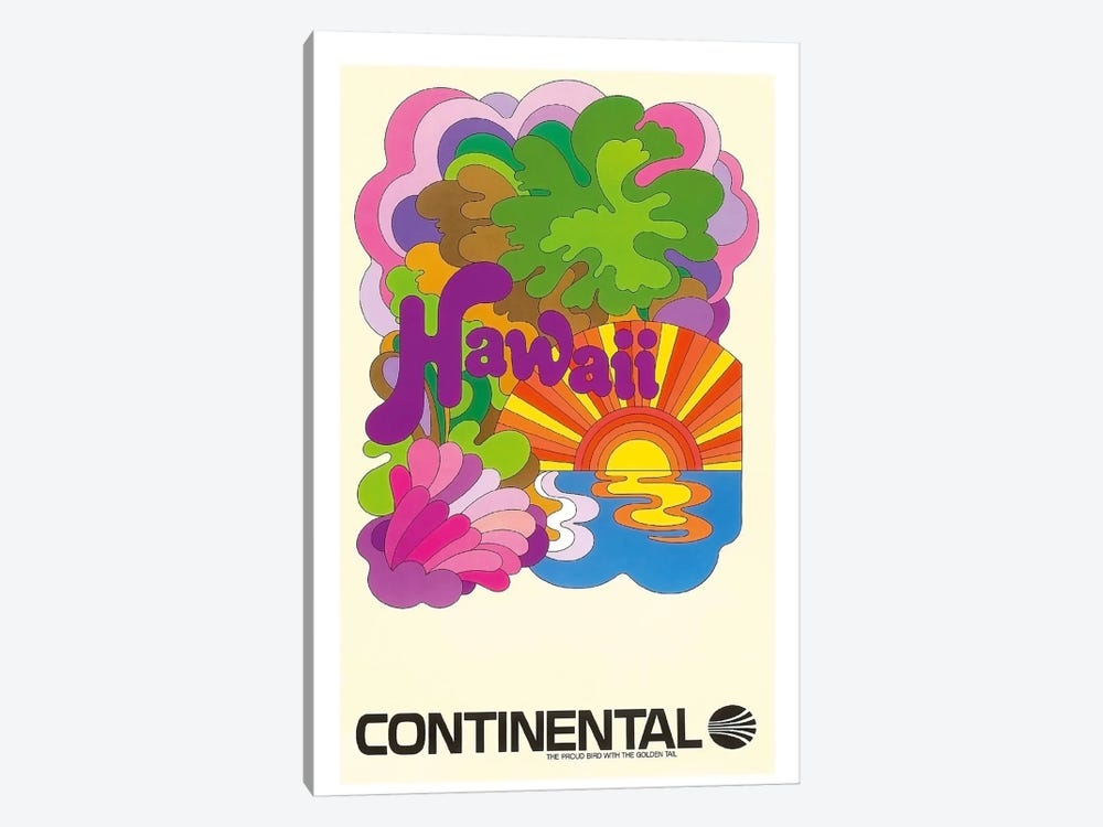 Hawaii - Continental Airlines I by Unknown Artist 1-piece Canvas Art Print