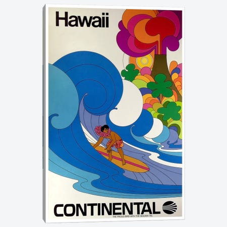 Hawaii - Continental Airlines II Canvas Print #LIV124} by Unknown Artist Canvas Wall Art
