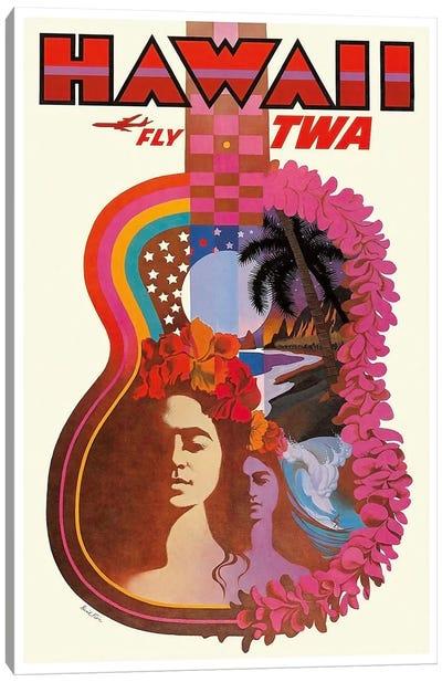 Hawaii - Fly TWA Canvas Print #LIV125