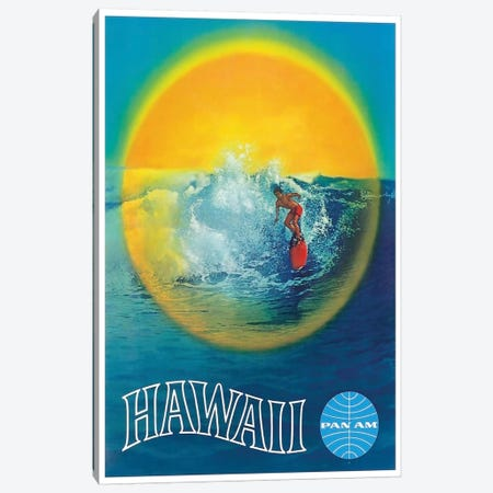 Hawaii - Pan American Canvas Print #LIV126} by Unknown Artist Canvas Art