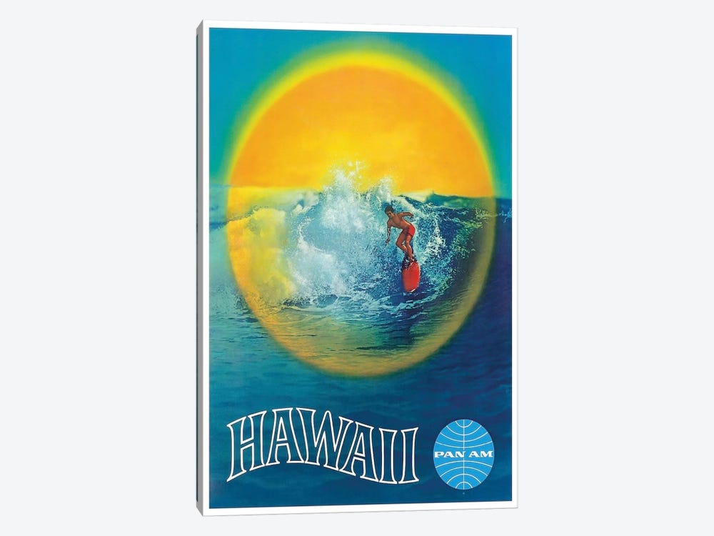 Hawaii - Pan American by Unknown Artist 1-piece Canvas Wall Art