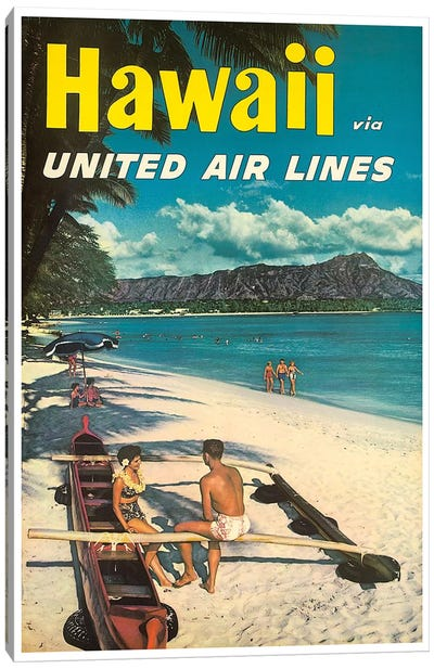 Hawaii - United Airlines Canvas Art Print