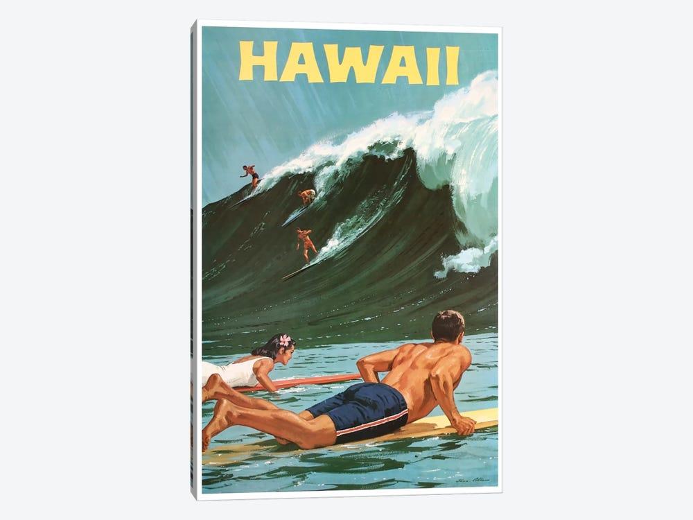 Hawaii: Surfing by Unknown Artist 1-piece Art Print