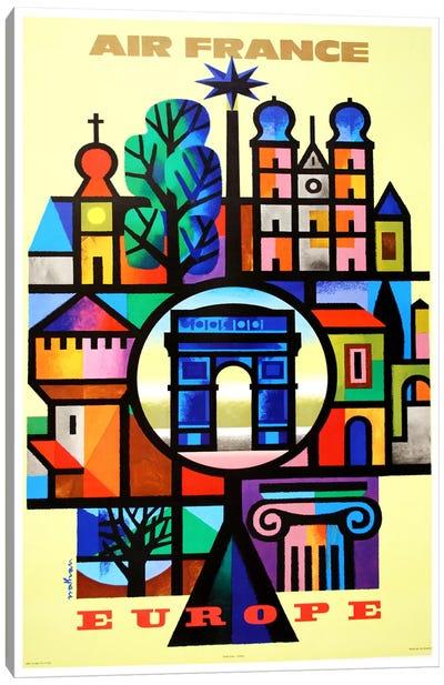 Air France Europe Canvas Print #LIV12