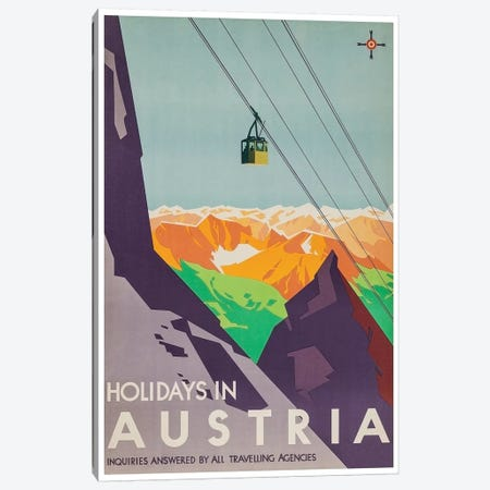Holidays In Austria: Inquiries Answered By All Travelling Agencies Canvas Print #LIV130} by Unknown Artist Canvas Artwork