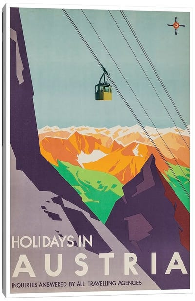 Holidays In Austria: Inquiries Answered By All Travelling Agencies Canvas Art Print