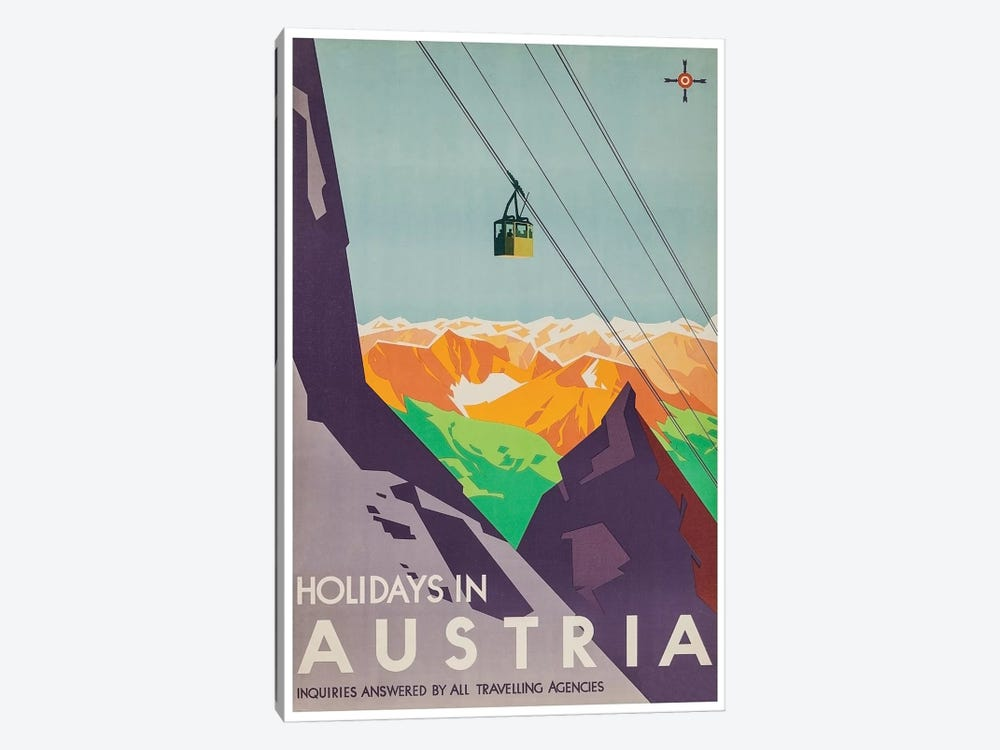 Holidays In Austria: Inquiries Answered By All Travelling Agencies by Unknown Artist 1-piece Canvas Print