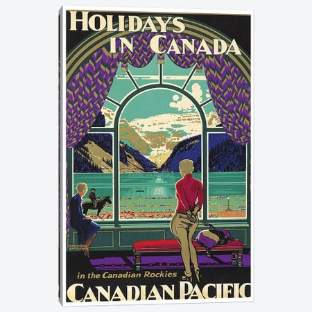 Holidays In Canada - Canadian Pacific 3-Piece Canvas #LIV131} by Unknown Artist Canvas Wall Art
