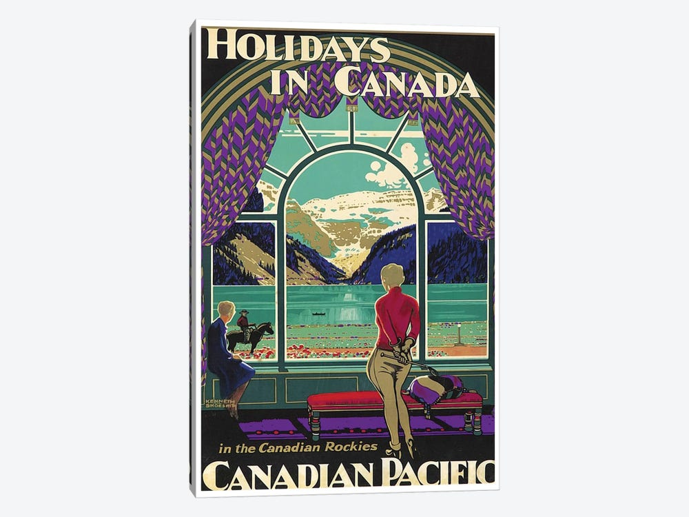 Holidays In Canada - Canadian Pacific by Unknown Artist 1-piece Canvas Wall Art